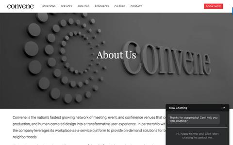 Screenshot of About Page convene.com - About Us - Convene - Meeting Rooms, Event Spaces, & Conference Centers - captured May 4, 2017