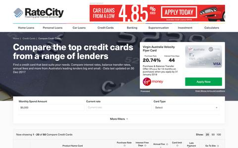 2018s Best Credit Cards | Compare Offers Instantly | RateCity