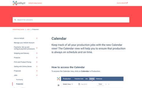 Screenshot of Jobs Page inksoft.com - Calendar - captured Jan. 2, 2020