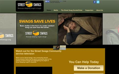Screenshot of Press Page streetswags.org - streetswags - captured Aug. 15, 2015