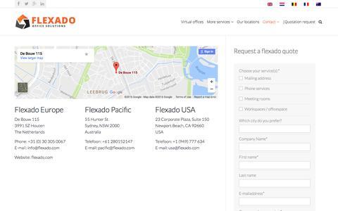 Screenshot of Contact Page flexado.com - Contact - Flexado - captured Nov. 25, 2016
