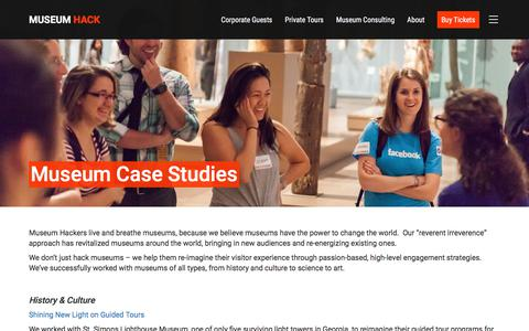 Screenshot of Case Studies Page museumhack.com - Museum Case Studies - Museum Hack - captured Oct. 8, 2017