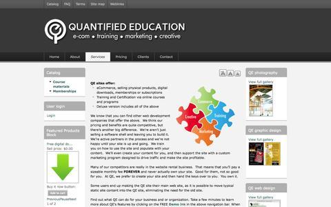Screenshot of Services Page quantifiededucation.com - QE Services - captured Sept. 30, 2014