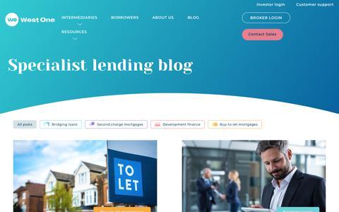 Screenshot of Blog westoneloans.co.uk - Blog  - West One Loans - captured Aug. 23, 2019