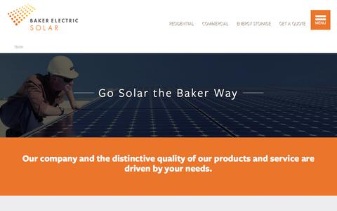 Screenshot of About Page bakerelectricsolar.com - Get Solar in San Diego The Baker Way - captured June 4, 2017