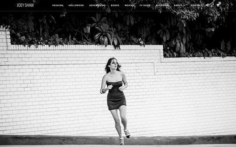 Screenshot of Home Page joeyshaw.com - Home - Joey Shaw - Fashion and Celebrity Photographer - captured Jan. 22, 2016