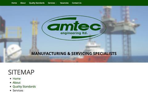 Screenshot of Site Map Page amtec4engineering.com - Amtec - Sitemap - captured Oct. 5, 2014