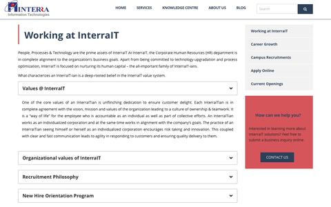 Screenshot of Jobs Page interrait.com - Working | InterraIT - captured Oct. 12, 2018