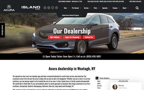 Screenshot of About Page islandacura.com - Acura and Used Car Dealer in Wantagh | Island Acura - captured Sept. 19, 2018