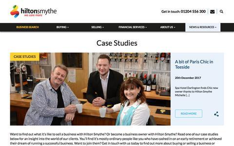Screenshot of Case Studies Page hiltonsmythe.com - Case Studies - How We Help Clients - Hilton Smythe - captured July 20, 2018