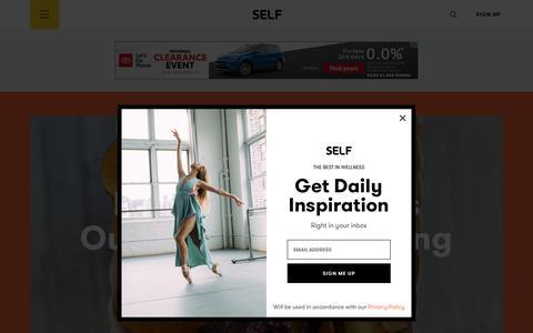 Screenshot of Home Page self.com - SELF Magazine: Women's Workouts, Health Advice & Beauty Tips | SELF - captured Aug. 29, 2018