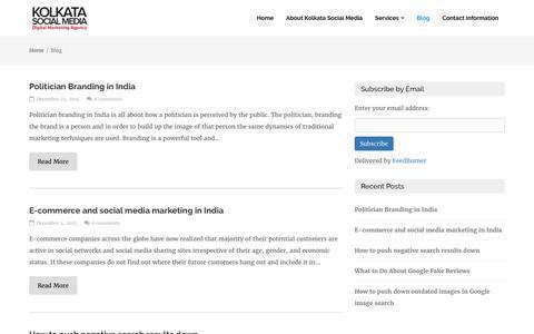 Screenshot of Blog kolkatasocialmedia.com - Kolkata Social Media | Social Media Marketing | Optimization Blog - captured June 9, 2017