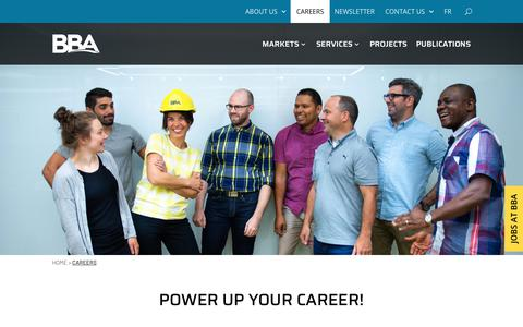 Screenshot of Jobs Page bba.ca - Careers | BBA - captured Nov. 6, 2018