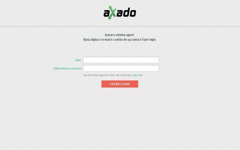Screenshot of Login Page axado.com.br - Axado | Soluções em Fretes para E-commerces e Empresas - captured Sept. 10, 2014