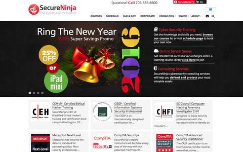 SecureNinja Cybersecurity Training Certification | IT Security Services
