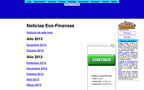 Screenshot of eco-finanzas.com - Noticias Eco-Finanzas - captured Jan. 3, 2018
