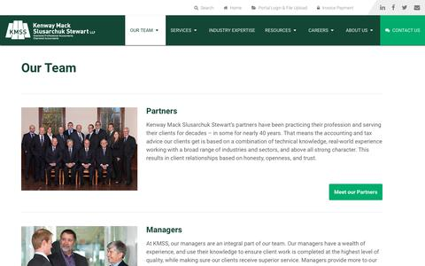 Screenshot of Team Page kmss.ca - Our Team | KMSS Chartered Professional Accountants - captured Oct. 15, 2018