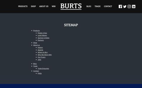 Screenshot of Site Map Page burtschips.com - Sitemap - Burts Chips - captured Oct. 7, 2018