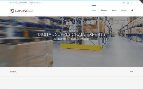 Screenshot of Home Page linkederp.com - Linked | Digital Supply Chain Optimization - captured July 14, 2016
