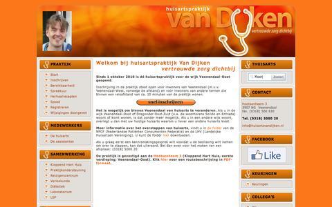 Screenshot of Home Page huisartsvandijken.nl - Huisarts van Dijken Veenendaal-Oost | vertrouwde zorg dichtbij - captured Sept. 17, 2015