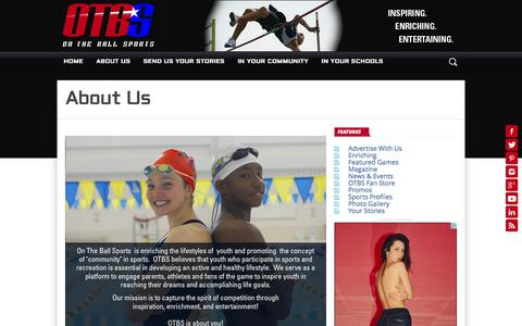 Screenshot of About Page otbsonline.com - About Us – On The Ball Sports - captured Dec. 2, 2016