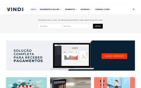 Screenshot of Blog vindi.com.br - Blog Vindi - Cobrança Recorrente, Pagamento On-line e Assinaturas. - captured Dec. 10, 2018