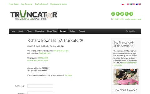 Screenshot of Contact Page truncator.co.uk - Come and Talk to us here at Truncator. How can we help - captured Oct. 9, 2014