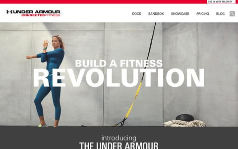Under Armour Developer - Home