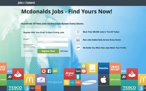 Screenshot of Landing Page jobandtalent.com - Mcdonalds Jobs - See Latest - captured Dec. 28, 2016
