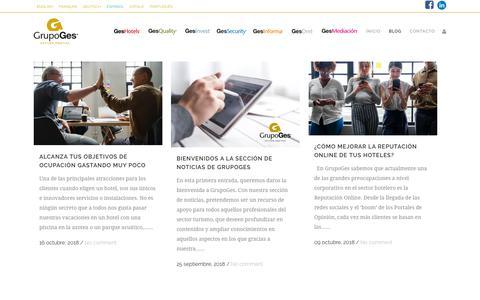 Screenshot of Blog grupoges.es - Blog - GrupoGes - captured Nov. 20, 2018
