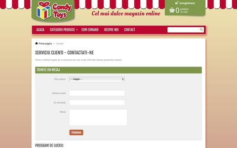 Screenshot of Contact Page candytoys.ro - Contact us - Candytoys - captured Oct. 1, 2014