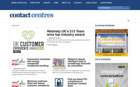 Screenshot of Home Page contact-centres.com - Contact-Centres.com • News and information from the UK contact centre industryContact-Centres.com | News and information from the UK contact centre industry - captured Sept. 30, 2014