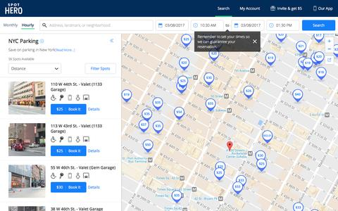 NYC Parking - Look, Book, Park - Save Up to 50% | SpotHero