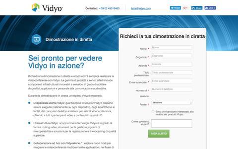 Screenshot of Landing Page vidyo.com - Хотите увидеть решени� Vidyo в дей�твии?   Запро� онлайн-демон�трации - captured Aug. 22, 2016