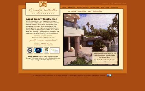 Screenshot of About Page gramlylv.com - Gramly Construction Inc.: About Gramly Construction - captured Oct. 3, 2014