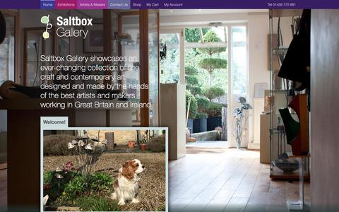 Screenshot of Home Page saltboxgallery.co.uk - Saltbox Gallery | - captured Oct. 4, 2017