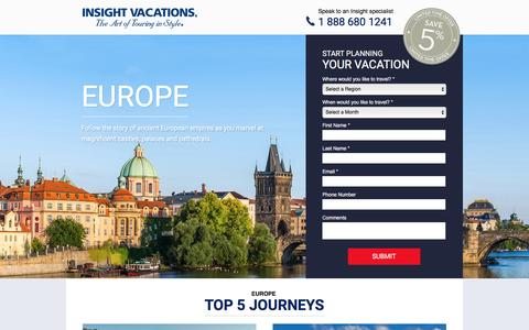 Screenshot of Landing Page insightvacations.com - EUROPE   Insight Vacations - captured March 16, 2016