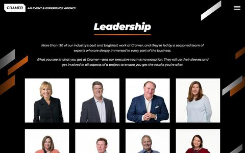 Screenshot of Team Page cramer.com - Leadership - Cramer - captured Nov. 5, 2019