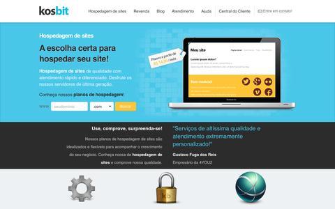 Hospedagem de sites, revenda de hospedagem, registro de domínios - Kosbit