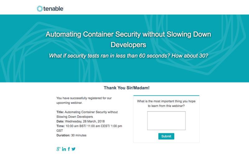 Webinar | Tenable Network Security