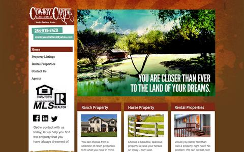 Screenshot of Home Page cclandco.net - Cowboy Capital Land Company - Farms and Ranches   Stephenville, TX - captured Oct. 3, 2014