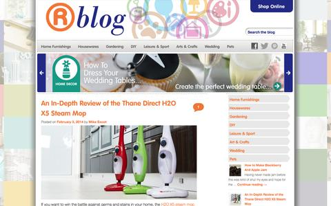 Screenshot of Blog therange.co.uk - The Range Blog Tips & Tricks to make your house a home. - captured Sept. 19, 2014