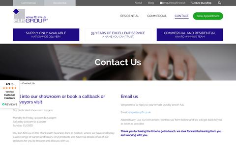 Screenshot of Contact Page flr.co.uk - Contact Us | FLR Group - captured Oct. 10, 2018