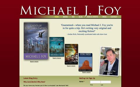 Screenshot of Home Page michaeljfoy.com - Home - Michael J Foy - captured Oct. 4, 2014