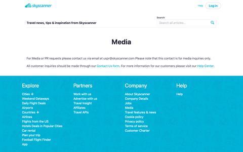 Screenshot of Press Page skyscanner.com - Media   Skyscanner - captured Dec. 21, 2018
