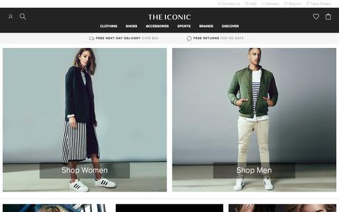 Screenshot of Home Page theiconic.com.au - Clothes Online | Shoes Online | THE ICONIC - captured April 20, 2016