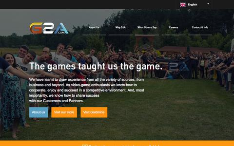 Screenshot of Home Page g2a.co - G2A.COM Marketplace - captured Sept. 24, 2014