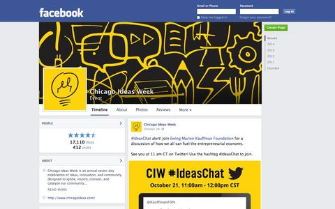 Screenshot of Facebook Page facebook.com - Chicago Ideas Week - Chicago, Illinois - Event | Facebook - captured Oct. 22, 2014