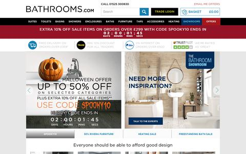 Screenshot of Home Page bathrooms.com - The UK's favourite online bathroom retailer   Bathrooms.com - captured Oct. 29, 2017