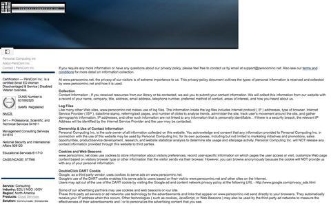 Screenshot of Privacy Page google.com - Privacy Policy - Personal Computing Inc - captured Nov. 4, 2016